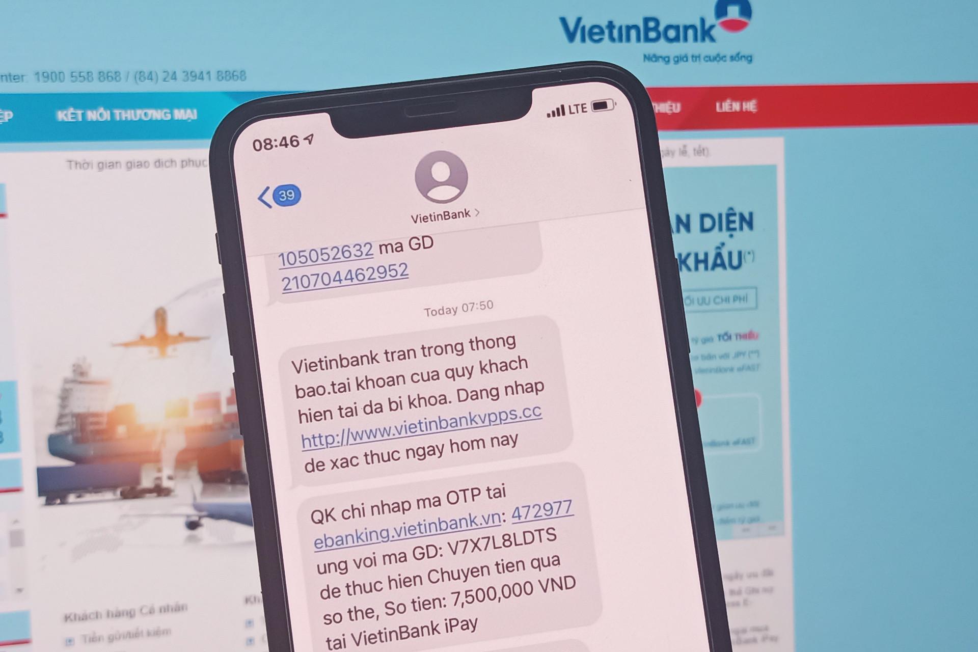 Thêm một người dùng Vietinbank bị lừa mất 7,5 triệu đồng - 1