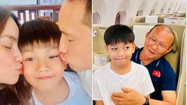 Hồ Ngọc Hà khoe ảnh đi chơi cùng Kim Lý và Su Beo, vui mừng gặp HLV Park Hang-seo cùng chuyến bay
