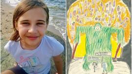Nữ sinh lớp 4 vẽ tranh minh họa cho sách của tác giả Harry Potter