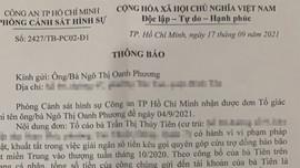 Công an TP.HCM xem xét, giải quyết đơn người dân tố giác ca sĩ Thủy Tiên